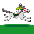 Horse and jockey - Stock Vector