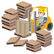 Workers and forklift - Stock Vector