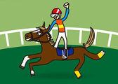 Cavalo e jockey — Vetorial Stock