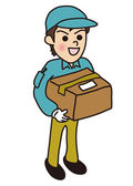 Men deliveryman — Stock Vector