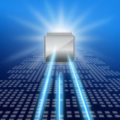 полупроводников и лазерное изображение — Стоковое фото