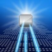 Imagen del semiconductor y láser — Foto de Stock