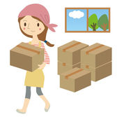 Prepare women moving — Stock Vector