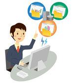 Backup of data — Stock Vector