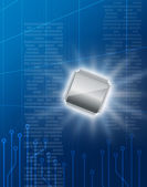Semiconductor technology image — Stock Photo