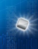 Immagine tecnologia dei semiconduttori — Foto Stock