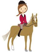 Women riding — Stock Vector