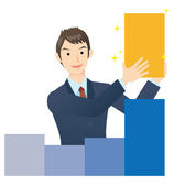 Businessman, growth image — Stock Vector