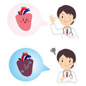 I hear the diagnosis result of heart from doctor — Stock Vector