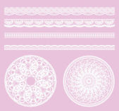 Lace material various — Stock Vector