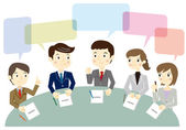 Business team have a meeting — Stock Vector