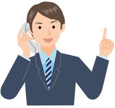 Businessman to talk on the phone — Stock Vector