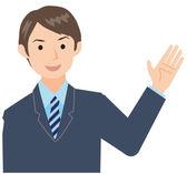 Businessman greet — Stock Vector