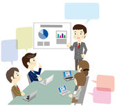 Business team during a meeting — Stock Vector