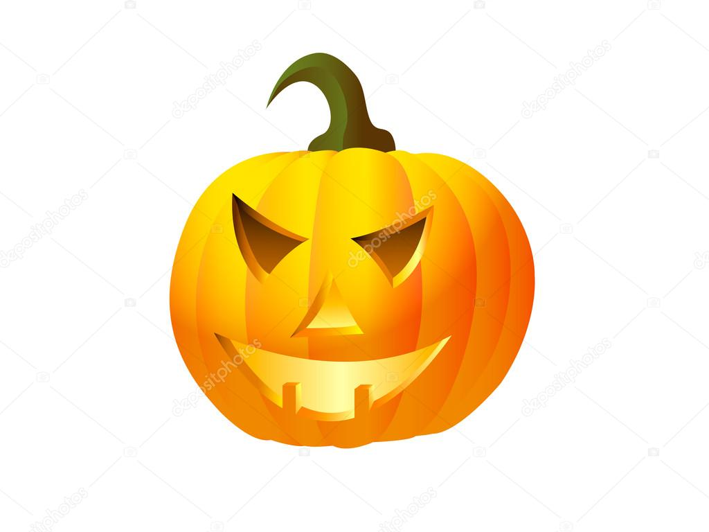 Vector icon of halloween pumpkin — Stock Vector #14568725