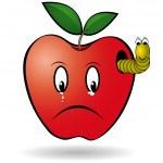 Worm apple — Stock Vector