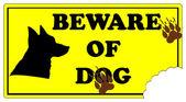 Pozor zlý pes — Stock vektor
