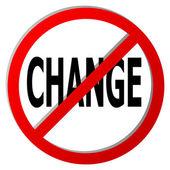No change — Stock Vector