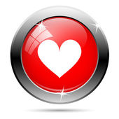 Heart button — Stock Vector