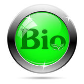 Bio button — Vector de stock