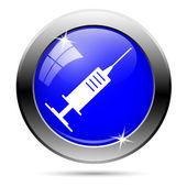 Bouton de seringue — Vecteur