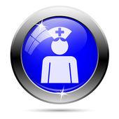 Nurse button — Stock Vector