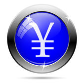 Icono yen — Vector de stock