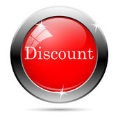 Discount button — Vector de stock