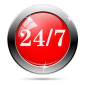 247 icon — Stock Vector