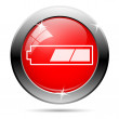 Partially charged battery icon — Foto Stock