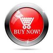 Shopping cart buy now icon — Stock Photo