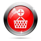 Alışveriş sepeti simgesini ekleme — Stok fotoğraf
