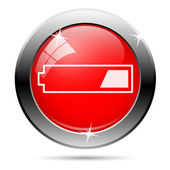 Low charged battery icon — Stock Photo