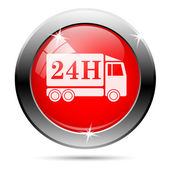 24h truck icon — Stock Photo