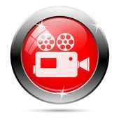 Video camera icon — Stock Photo