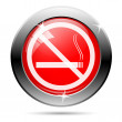 No smoking sign icon - Stock Photo