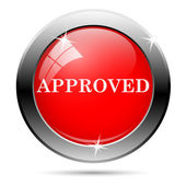 Approved2 icon — Stock Photo
