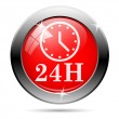 Clock 24 hours icon — Stock Photo