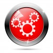 Industrial wheels icon — Stock Photo