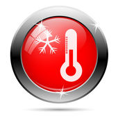 Snowflake and thermometer icon — Stock Photo