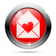 Envelope heart icon — Stock Photo #25735709