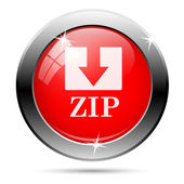 Zip icon — Stock Photo