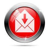 Odbieranie poczty ikona — Zdjęcie stockowe