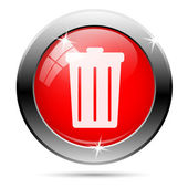 Trash can icon — Stock Photo