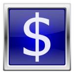 Blue shiny icon — Stock Photo
