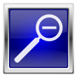 Blue shiny icon — Foto de Stock