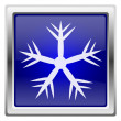 Blue shiny icon — Lizenzfreies Foto