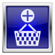 Stock Photo: Blue shiny icon