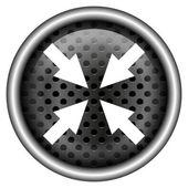 Glossy metallic icon — Stock Photo