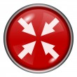 Red round glossy icon — Foto Stock